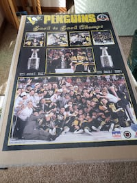 Pittsburgh Penguins Back to Back Champs poster, 24x36