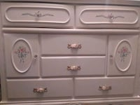white wooden dresser with mirror Tracy, 95376