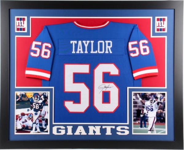 new concept d663d b3f28 Lawrence Taylor Custom Framed Signed New York Giants Jersey (JSA)