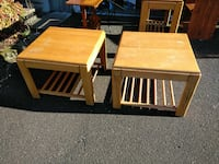 Set of 2 End Tables with Matching Buffet Table