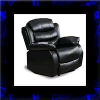 Black recliner chair Alexandria, 22305