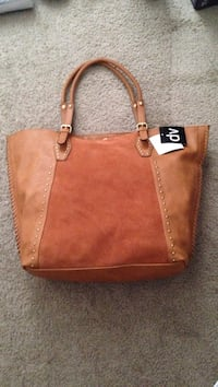 Brown leather and suede tote Las Vegas, 89147