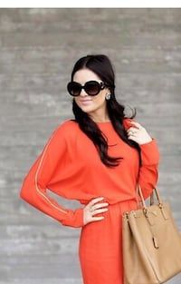 L'Agence Off-Shoulder Zipper Dress: Orange Size 10 Toronto, M9V 2Y8