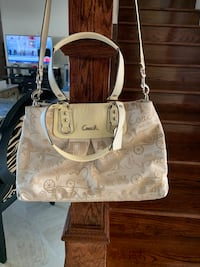 white and brown leather tote bag Tampa, 33647