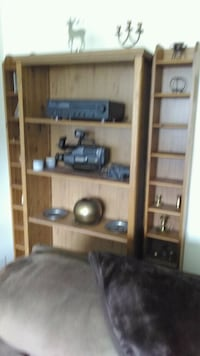 brown wooden framed glass display cabinet Gatineau, J8X 3R4