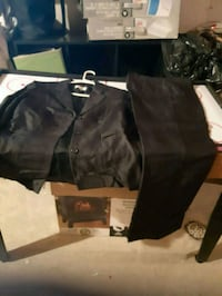 black jacket with matching pants suits size 8. Whitby, L1N 9E2