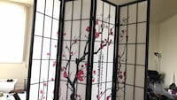 black wooden framed glass panel room divider Alexandria, 22304