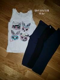 Linne + 3/4 leggings 122/128 6556 km