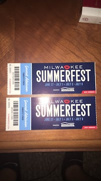 2018 summer fest tickets 42 dollar value  West Allis, 53227