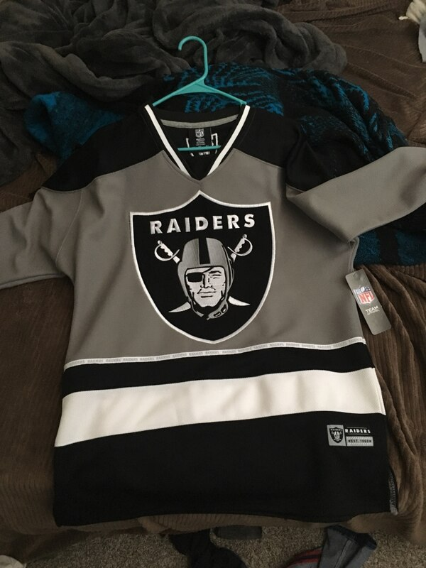 Used black and white Oakland Raiders jersey for sale in West Sacramento -  letgo 332ae6a50