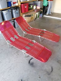red and white striped lounge chair San Juan, 78589