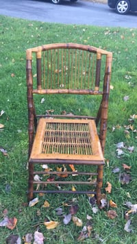 5 bamboo chairs foldable  Gaithersburg