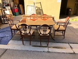 Antique Dinner Room Set with Banquet and China Cabinet.