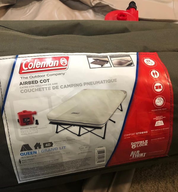 Coleman - queen frame airbed  29093232-e107-4b49-98c5-f543bb75ea43