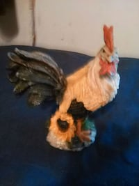 white and brown ceramic rooster figurine Denham Springs, 70726