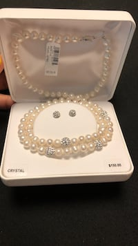 White pearl beaded necklace with box Council Bluffs, 51503