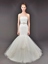 Swarovski belted dress wedding dress Washington