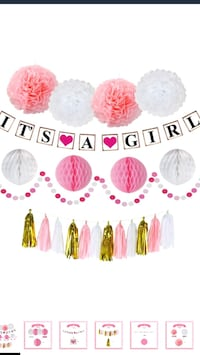 It's a girl baby shower decorations 10 km