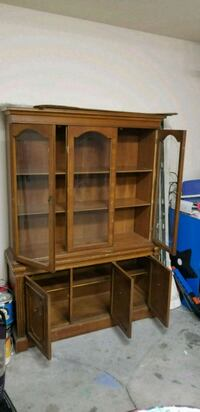 brown wooden cabinet with hutch Ocala, 34472