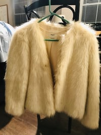 Mango White Fur Coat