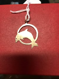 10k Yellow Gold Dolphin Charm!