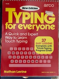 Learning typing on a keyboard
