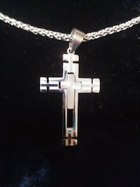 Stainless Steel men's Cross Necklace Chicago, 60660
