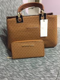 Brown and black michael kors leather crossbody bag Morpeth, NE61 5PG