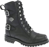 Woman's New Harley Davidson lace-up Boots Burnaby