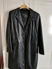 black leather button up jacket Saint-Zotique, J0P 1Z0