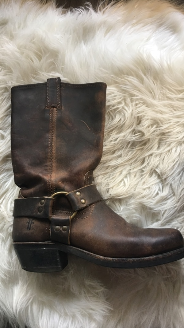 Frye boots brown leather women's size 37.5