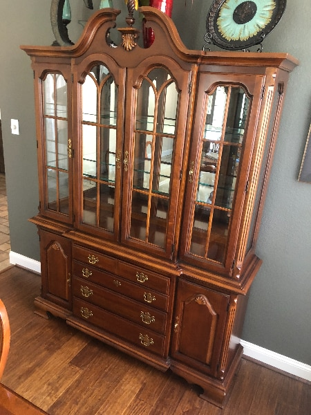 China Hutch W/Dining Table