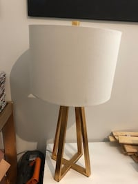 White and gold table lamp