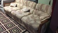 White and brown fabric sofa set Windsor, N8Y 1K1