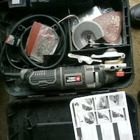 black and gray Ryobi corded power tool with case Mississauga, L5J 4H2
