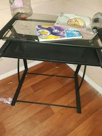 black metal framed glass top computer desk Tallahassee, 32303