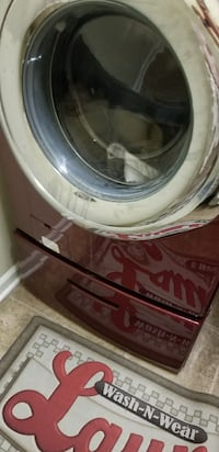 Maytag Red Washer/Dryer base only (1)