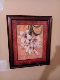 brown wooden framed painting of white petaled flow Memphis, 38111