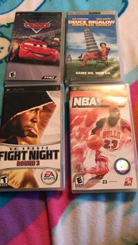 four assorted Sony PSP game cases Los Angeles, 91331