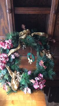 green and pink floral wreath Bayport, 11705