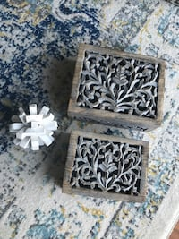Hand carved wood jewelry boxes with  pine cone decor  Mount Pleasant, 29464