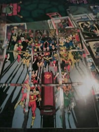 Super hero cards from the 80s