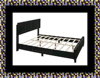 Queen bed platform bed with mattress Savage
