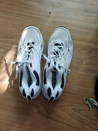 pair of white-and-black Adidas sneakers Vaughan, L4K 4W9