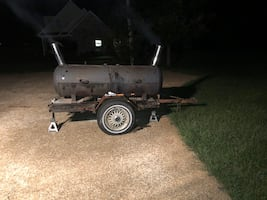 Grill on trailer