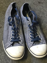 Pair of Blue Converse Shoes  null, V0H