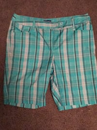 teal and white plaid shorts Louisville, 40206