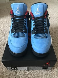 "Jordan Retro 4 ""Travis Scott"" size 10.5 DS  Fairfax, 22030"