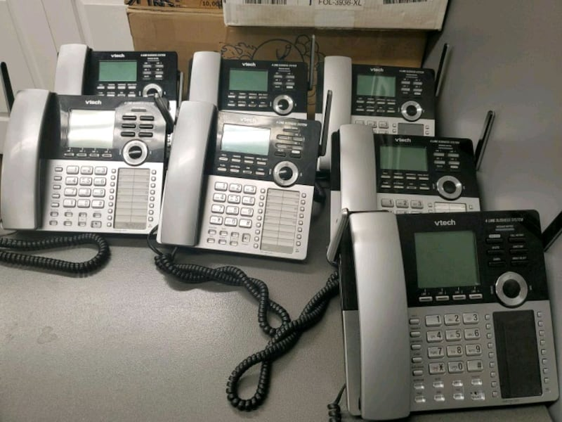 Vtech 4 line business system all 7 phones  d74bd18d-1472-492b-a7a4-5513cb4a95fd