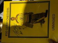 Gerry cheevers unmasked signed picture . Bruins 3731 km